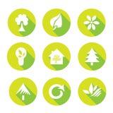 Iconos de la ecología fijados Imagenes de archivo