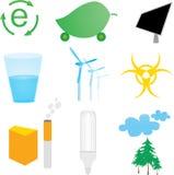Iconos de la ecología fijados Ilustración del Vector