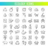Iconos de la ecología fijados Vector Imagen de archivo libre de regalías