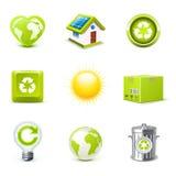 Iconos de la ecología   Serie de Bella stock de ilustración