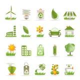 Iconos de la ecología y de la naturaleza Imagen de archivo