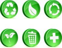Iconos de la ecología. Imagenes de archivo