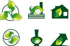 Iconos de la ecología del diseño Imágenes de archivo libres de regalías