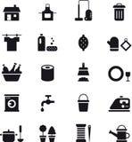 Iconos de la economía doméstica Fotos de archivo libres de regalías