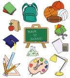 Iconos de la educación Stock de ilustración