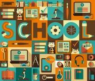 Iconos de la educación Imagen de archivo libre de regalías
