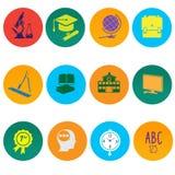 Iconos de la educación Foto de archivo