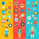 Iconos de la educación Imagenes de archivo