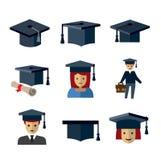 Iconos de la educación Imágenes de archivo libres de regalías