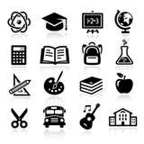 Iconos de la educación Imagen de archivo