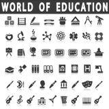 Iconos de la educación Fotos de archivo libres de regalías
