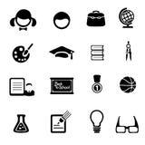 Iconos de la educación fijados Imágenes de archivo libres de regalías