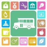 Iconos de la educación fijados Ilustración ilustración del vector
