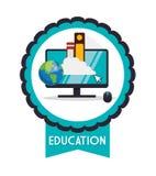 Iconos de la educación y de la escuela libre illustration