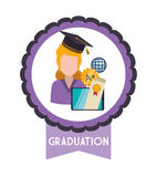 Iconos de la educación y de la escuela stock de ilustración