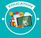 Iconos de la educación y de la escuela ilustración del vector