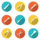 Iconos de la educación fijados Fotografía de archivo libre de regalías