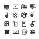 Iconos de la electrónica Foto de archivo