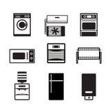 Iconos de la electrónica casera y del equipo Fotos de archivo libres de regalías