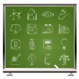 Iconos de la electricidad, de la potencia y de la energía Imágenes de archivo libres de regalías