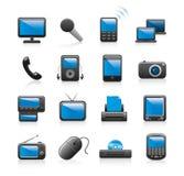 Iconos de la electrónica Imagen de archivo libre de regalías