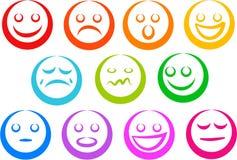 Iconos de la emoción Imagen de archivo