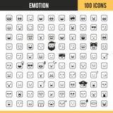 Iconos de la emoción Ilustración del vector ilustración del vector