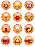 Iconos de la energía Fotografía de archivo