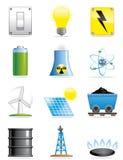 Iconos de la energía Fotos de archivo