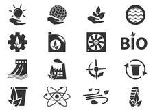 Iconos de la energía alternativa Fotos de archivo