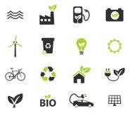 Iconos de la energía alternativa simplemente Imágenes de archivo libres de regalías