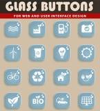 Iconos de la energía alternativa simplemente Imagen de archivo libre de regalías