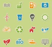 Iconos de la energía alternativa simplemente Fotografía de archivo