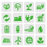 Iconos de la energía de Eco ilustración del vector