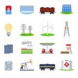 Iconos de la energía fijados Fotografía de archivo libre de regalías