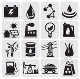 Iconos de la energía y de la potencia Foto de archivo libre de regalías
