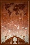 Iconos de la energía y del poder fijados Diseño del folleto Imágenes de archivo libres de regalías