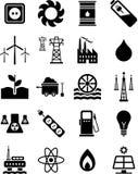 Iconos de la energía Imágenes de archivo libres de regalías