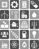 Iconos de la energía Imagen de archivo libre de regalías