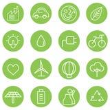 Iconos de la energía limpia Imágenes de archivo libres de regalías