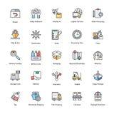 Iconos de la entrega de la logística Fotografía de archivo