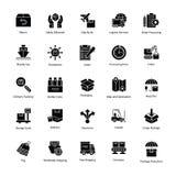 Iconos de la entrega de la logística Fotos de archivo