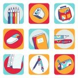 Iconos de la escuela Fotografía de archivo libre de regalías