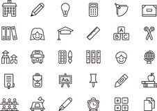 Iconos de la escuela Imagenes de archivo