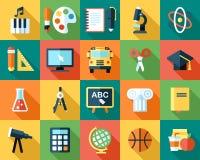 Iconos de la escuela Imágenes de archivo libres de regalías