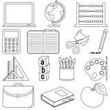 Iconos de la escuela del colorante ilustración del vector