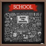 Iconos de la escuela del garabato fijados libre illustration