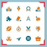 Iconos de la escuela   En una serie del marco Fotos de archivo libres de regalías