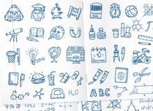 Iconos de la escuela fijados Fotos de archivo libres de regalías