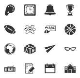 iconos de la escuela fijados Fotografía de archivo